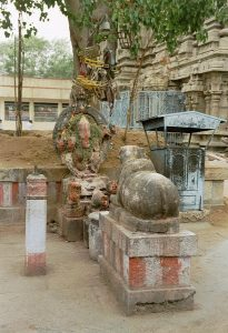 statues inside Meenakshi temple in Madurai