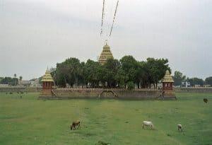 temple tank close to Gandhi museum