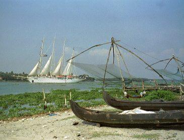 sailing ship in Kochi