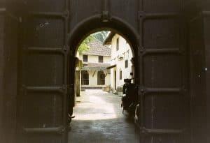 entrance of Dutch Palace on Fort Kochi