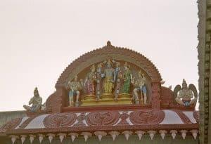 rooftop sculpture Hindu temple Fort Kochi